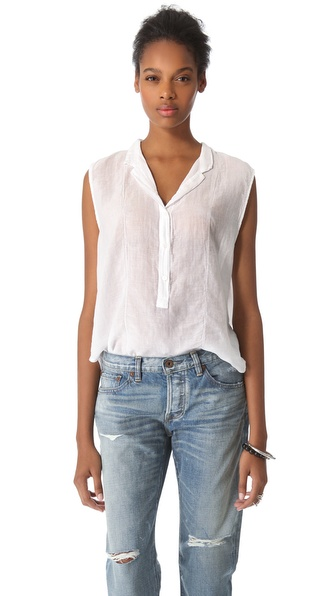 Enza Costa Sleeveless Henley
