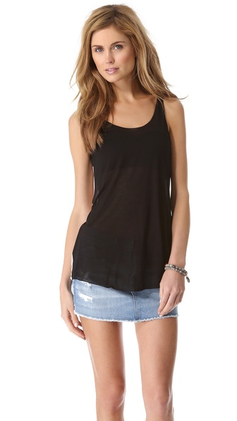 Enza Costa Loose Colorblock Tank