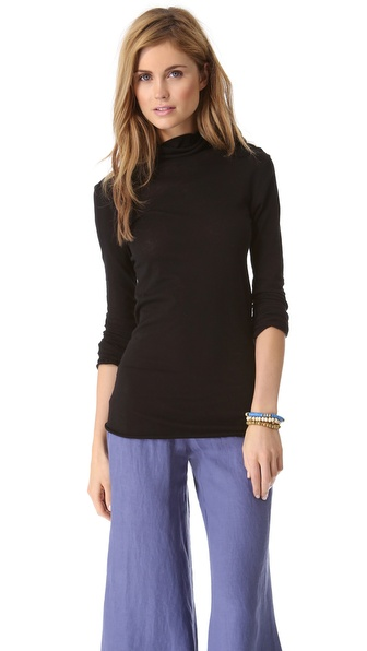 Enza Costa Long Sleeve Turtleneck
