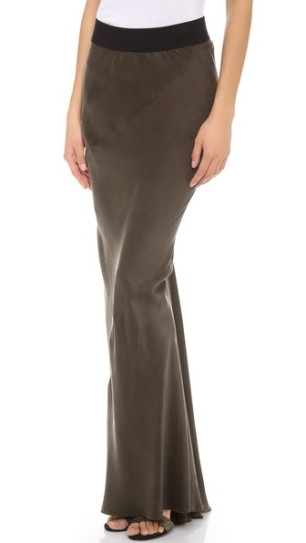 Enza Costa Silk Twist Seam Skirt