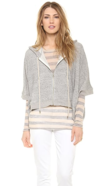 Enza Costa Poncho Hoodie