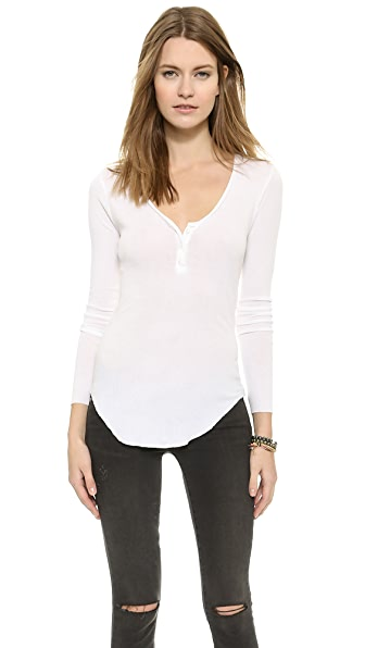 Enza Costa Ribbed Henley