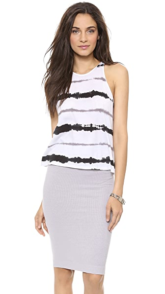 Enza Costa Cropped Sheath Tank