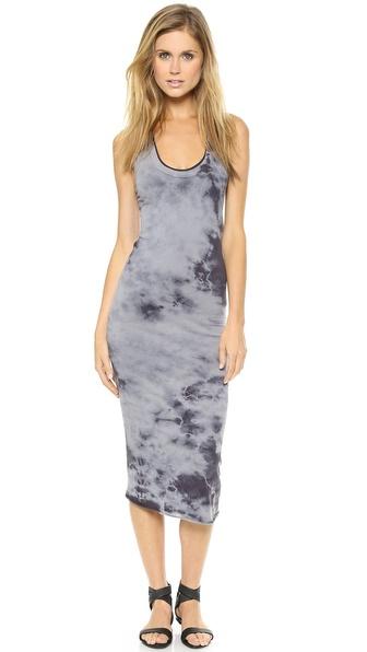 Enza Costa Bold Doubled Tank Dress