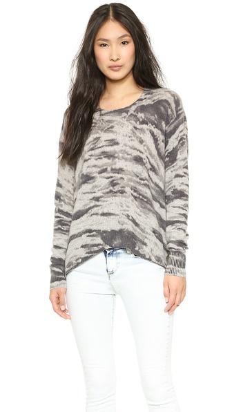 Enza Costa Cashmere Printed Pullover