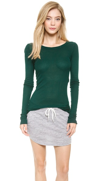 Enza Costa Long Sleeve Rib Tee