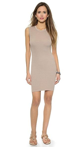 Kupi Enza Costa haljinu online i raspordaja za kupiti Enza Costa Ribbed Sleeveless Mini Dress Silver Mink online