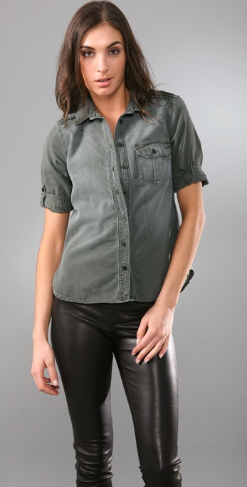 Equipment Short Sleeve Military Blouse