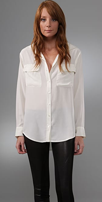Equipment Signature Washed Silk Blouse