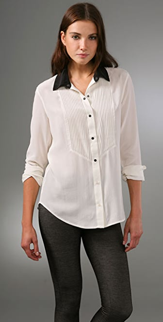 Equipment Dean's List Washed Silk Blouse