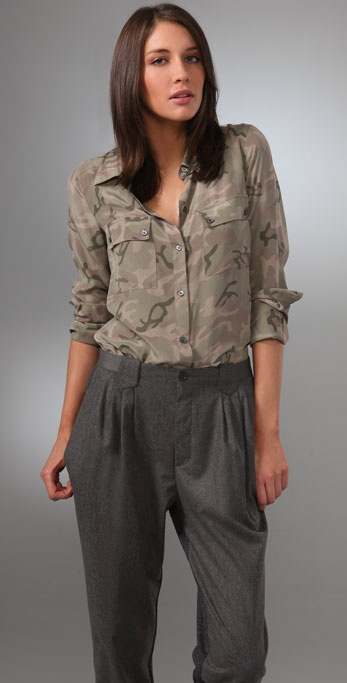 Equipment Sisley Washed CDC Blouse