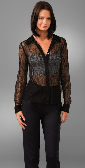 Equipment Lace Crescendo Blouse