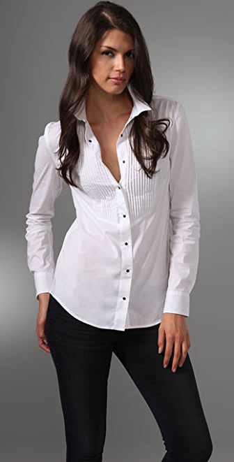 Equipment Dean's List Poplin Blouse