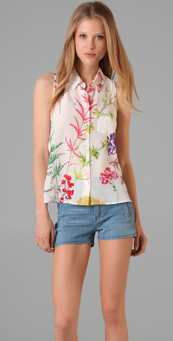 Equipment Mina Sleeveless Blouse