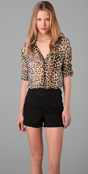 Equipment Daddy Leopard Shirt