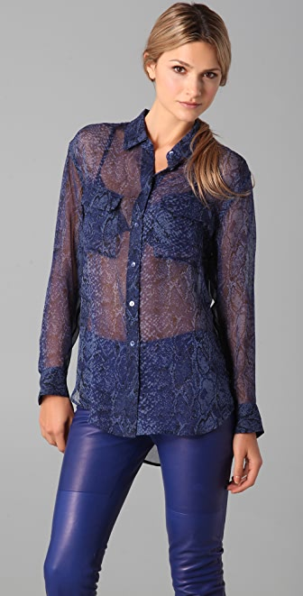 Equipment Python Signature Blouse