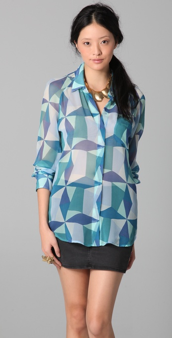Equipment Quinn Twister Print Blouse