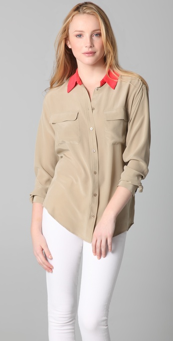 Equipment Colorblock Signature Blouse