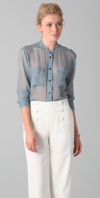 Equipment Bailey Mini Dot Blouse