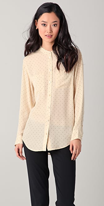 Equipment Bailey Pinpoint Dot Blouse