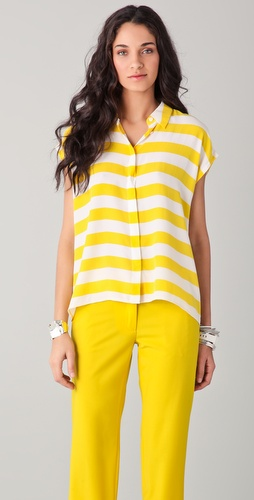 Equipment Leandra Cabana Stripe Blouse