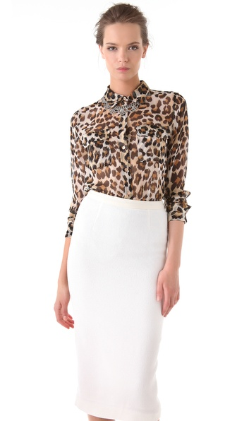 Equipment Anita Slim Signature Blouse