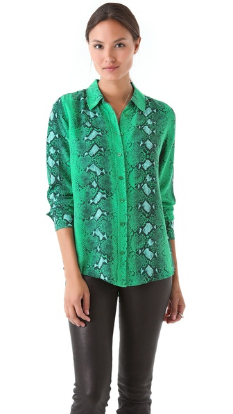 Equipment Brett Diamondback Python Blouse