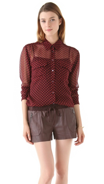 Equipment Signature Anjelica Hearts Blouse