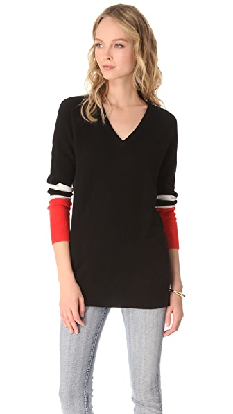 Equipment Asher Colorblock Cashmere Sweater