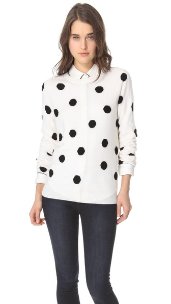 Equipment Sloane Dot Cashmere Sweater