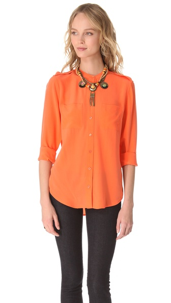 Equipment Carmen Two Pocket Blouse