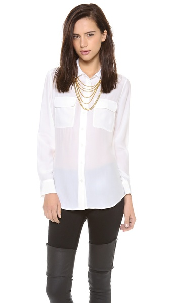 Equipment Slim Signature Blouse
