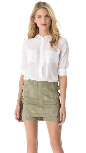 Equipment Ava Henley Blouse with Pockets