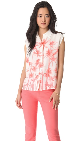 Equipment Diem Sleeveless Button Down Blouse