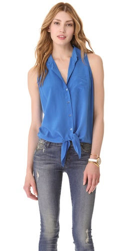 Equipment Mina Tie Front Blouse