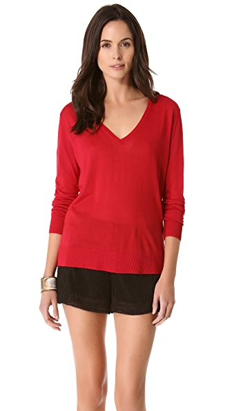 Equipment Sandy V Neck Sweater