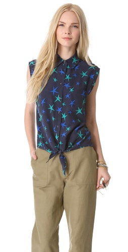 Kupi Equipment Diem Tie Front Blouse i Equipment haljine online u Apparel, Womens, Tops, Blouse,  prodavnici online