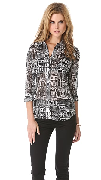 Equipment Close Proximity Print Blouse