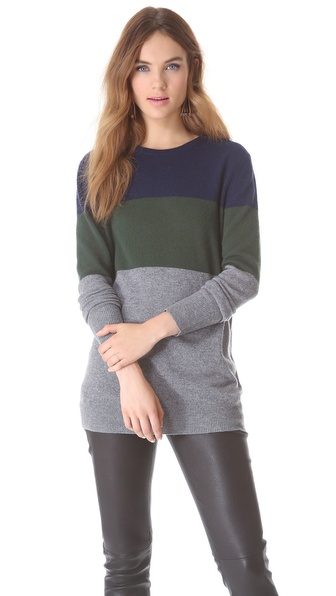 Equipment Rei Colorblock Cashmere Sweater