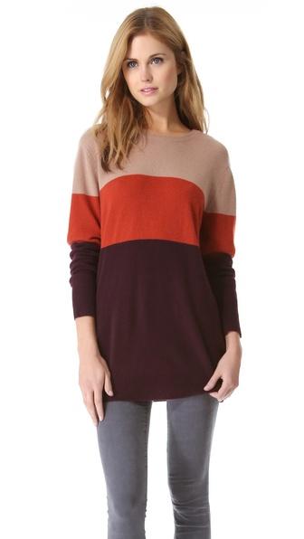 Equipment Rei Colorblock Cashmere Sweater