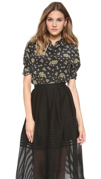 Equipment Blooming Fields Slim Signature Blouse