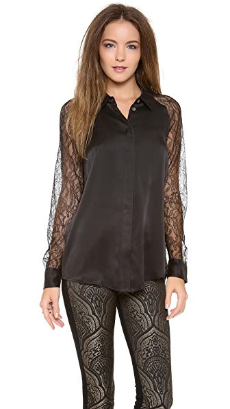 Equipment Quinn with Contrast Blouse