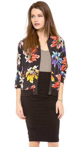 Equipment Abbot Bomber Jacket with Contrast