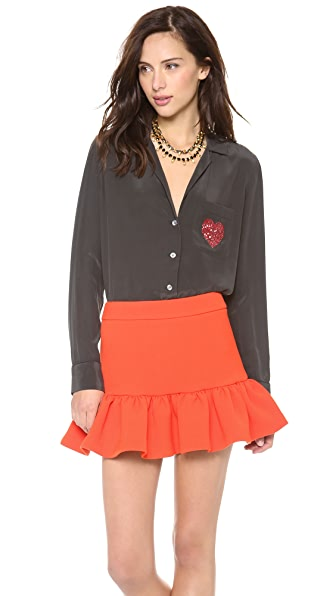 Equipment Keira Blouse with Embellished Pocket