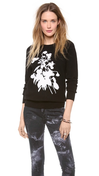 Equipment Sloane Flower Cashmere Sweater