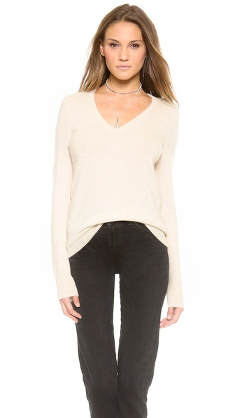 Equipment Cecile V Neck Cashmere Sweater