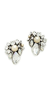 Erickson Beamon White Wedding Crystal Earrings