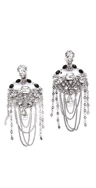 Erickson Beamon Midnight Lace Earrings