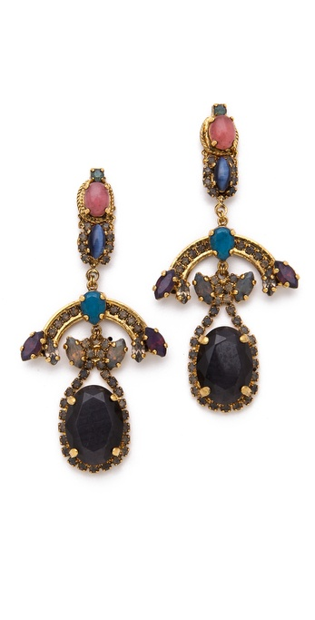 Erickson Beamon Rear Window Chandelier Earrings