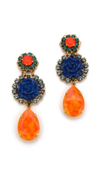 Erickson Beamon Rose Garden Earrings
